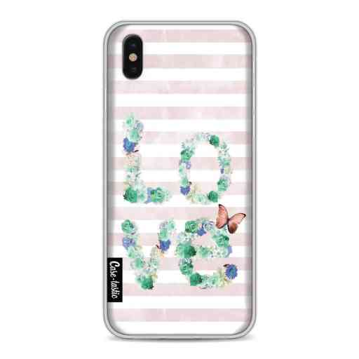 Casetastic Softcover Apple iPhone X / XS - Floral Love Mint
