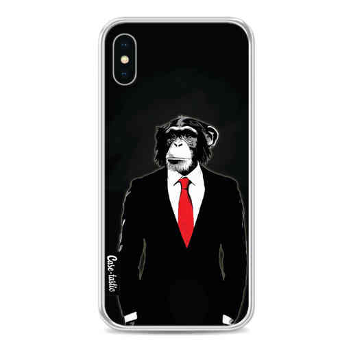 Casetastic Softcover Apple iPhone X / XS - Domesticated Monkey