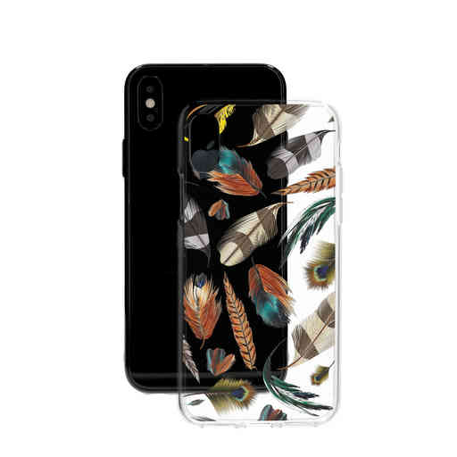 Casetastic Softcover Apple iPhone X / XS - Feathers Multi