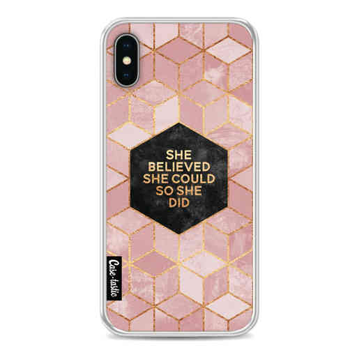 Casetastic Softcover Apple iPhone X / XS - She Believed She Could So She Did
