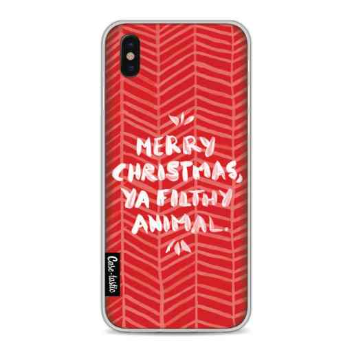 Casetastic Softcover Apple iPhone X / XS - Filthy Animal Red