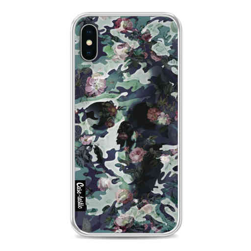 Casetastic Softcover Apple iPhone X / XS - Army Skull