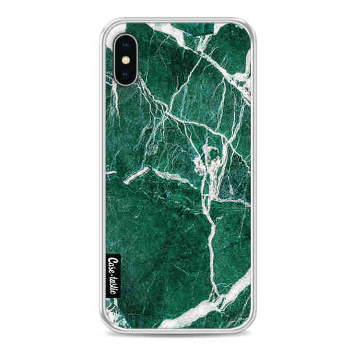 Casetastic Softcover Apple iPhone X / XS - Dark Green Marble