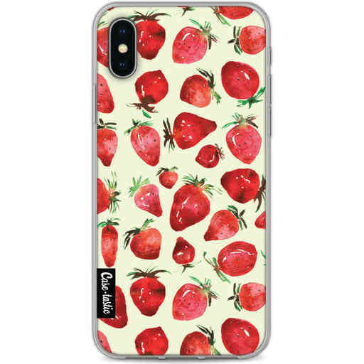 Casetastic Softcover Apple iPhone X / XS - Strawberry