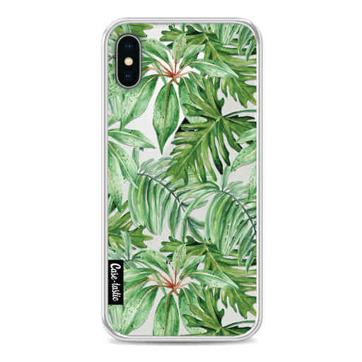 Casetastic Softcover Apple iPhone X / XS - Transparent Leaves