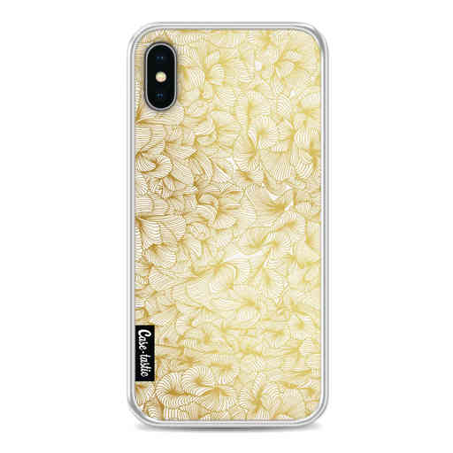 Casetastic Softcover Apple iPhone X / XS - Abstract Pattern Gold