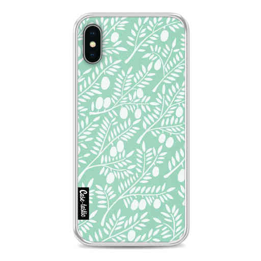 Casetastic Softcover Apple iPhone X / XS - Mint Olive Branches