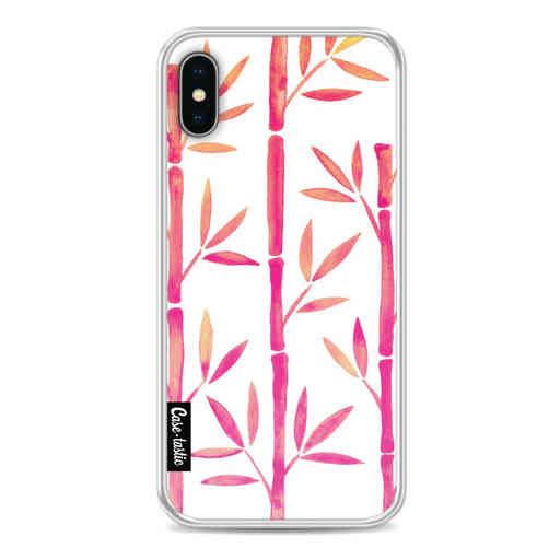 Casetastic Softcover Apple iPhone X / XS - Pink Bamboo Pattern
