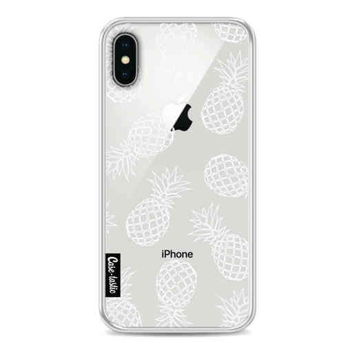Casetastic Softcover Apple iPhone X / XS - Pineapples Outline