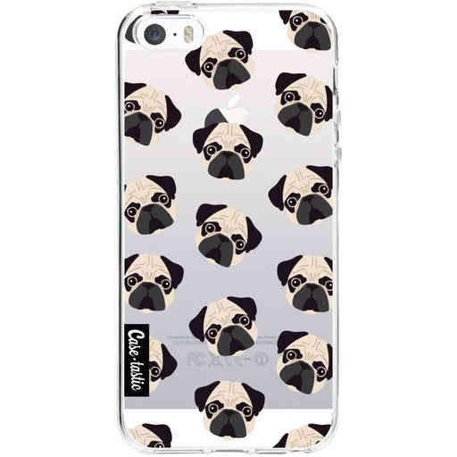 Casetastic Softcover Apple iPhone 5 / 5s / SE - Pug Trouble