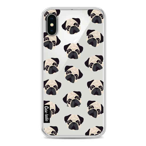 Casetastic Softcover Apple iPhone X / XS - Pug Trouble
