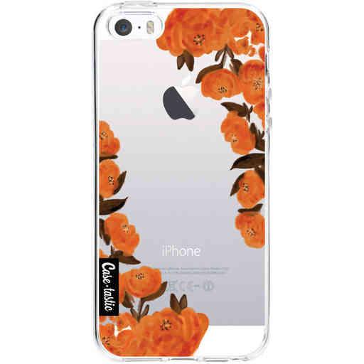 Casetastic Softcover Apple iPhone 5 / 5s / SE - Orange Autumn Flowers