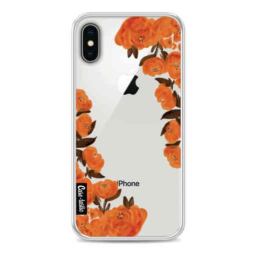 Casetastic Softcover Apple iPhone X / XS - Orange Autumn Flowers