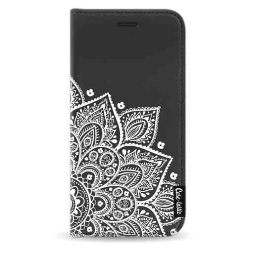 Casetastic Wallet Case Black Apple iPhone X / XS - Floral Mandala White
