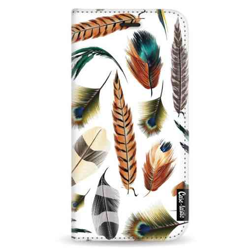 Casetastic Wallet Case White Apple iPhone X/XS - Feathers Multi