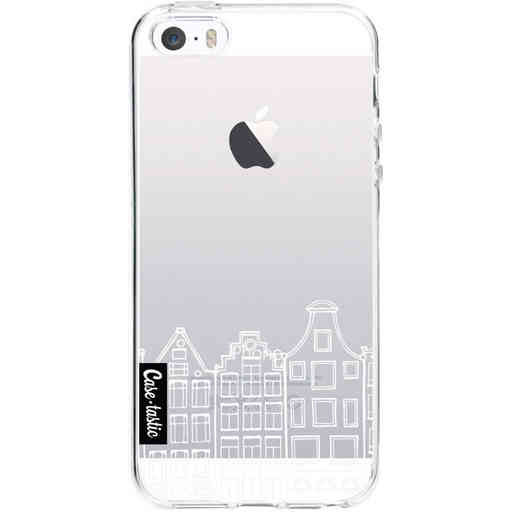 Casetastic Softcover Apple iPhone 5 / 5s / SE - Amsterdam Canal Houses White