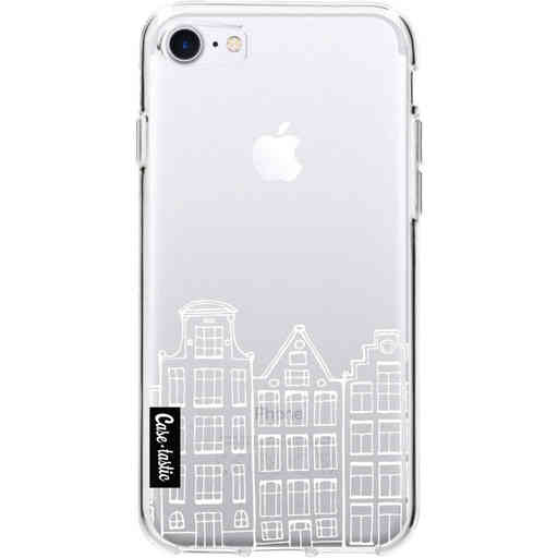 Casetastic Softcover Apple iPhone 7 / 8 / SE (2020) - Amsterdam Canal Houses White