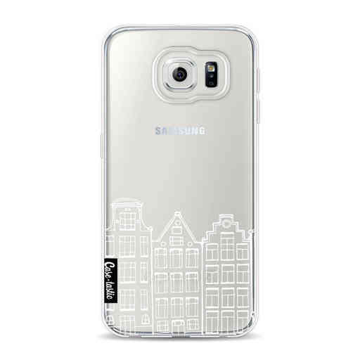 Casetastic Softcover Samsung Galaxy S6 - Amsterdam Canal Houses White
