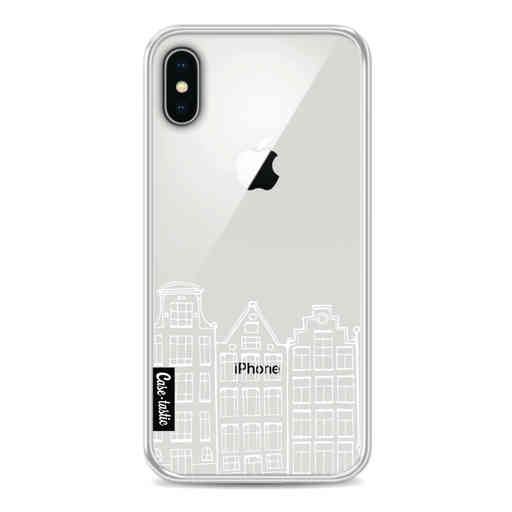 Casetastic Softcover Apple iPhone X / XS - Amsterdam Canal Houses White