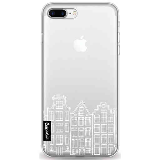 Casetastic Softcover Apple iPhone 7 Plus / 8 Plus - Amsterdam Canal Houses White