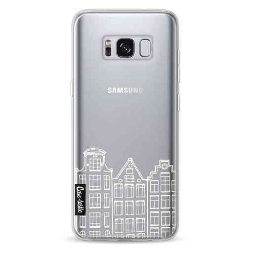 Casetastic Softcover Samsung Galaxy S8 - Amsterdam Canal Houses White