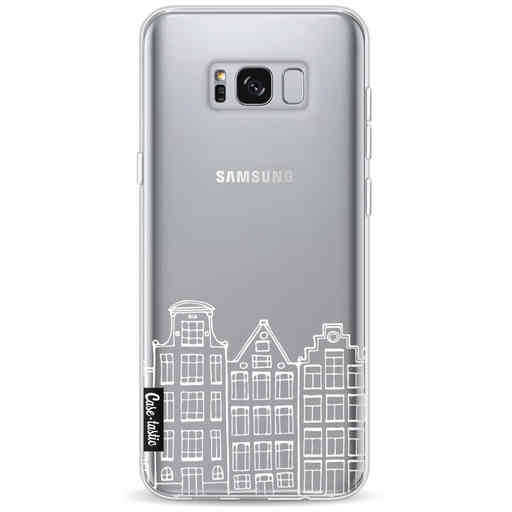 Casetastic Softcover Samsung Galaxy S8 Plus - Amsterdam Canal Houses White