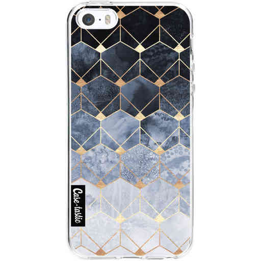 Casetastic Softcover Apple iPhone 5 / 5s / SE - Blue Hexagon Diamonds