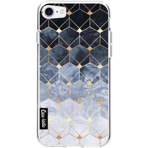 Casetastic Softcover Apple iPhone 7 / 8 / SE (2020) - Blue Hexagon Diamonds
