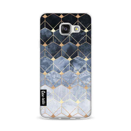 Casetastic Softcover Samsung Galaxy A3 (2016) - Blue Hexagon Diamonds