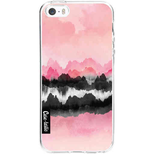 Casetastic Softcover Apple iPhone 5 / 5s / SE - Pink Mountains