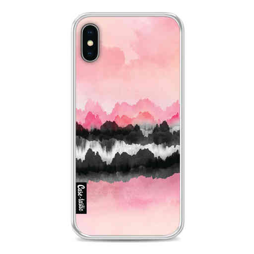 Casetastic Softcover Apple iPhone X / XS - Pink Mountains