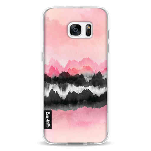 Casetastic Softcover Samsung Galaxy S7 Edge - Pink Mountains