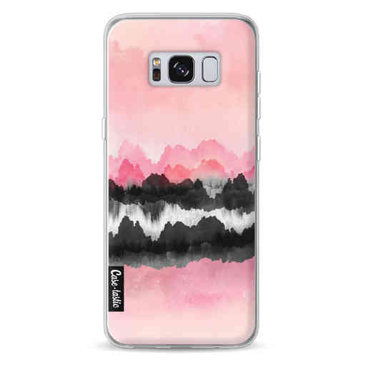 Casetastic Softcover Samsung Galaxy S8 - Pink Mountains
