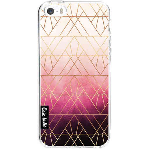 Casetastic Softcover Apple iPhone 5 / 5s / SE - Pink Ombre Triangles