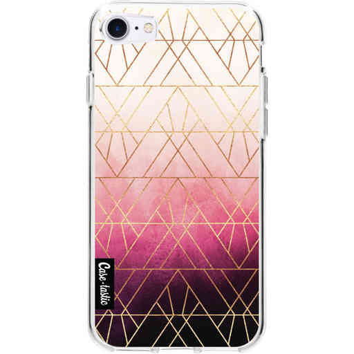 Casetastic Softcover Apple iPhone 7 / 8 / SE (2020) - Pink Ombre Triangles