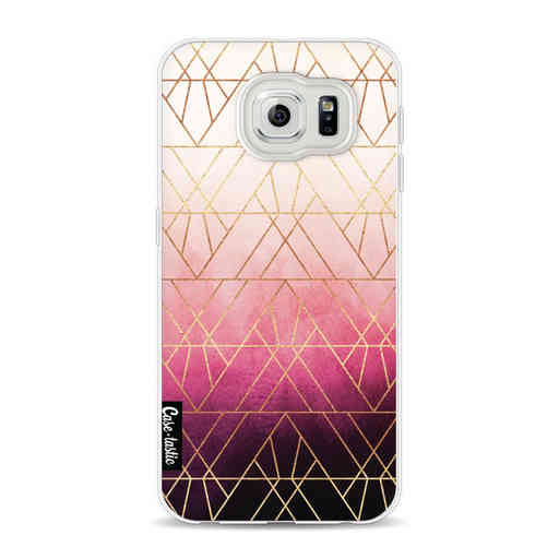 Casetastic Softcover Samsung Galaxy S6 - Pink Ombre Triangles