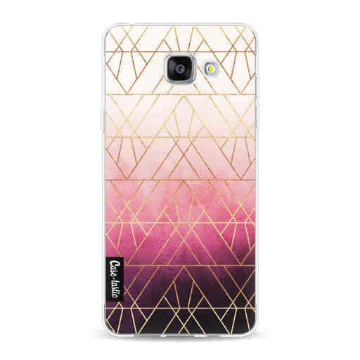 Casetastic Softcover Samsung Galaxy A5 (2016) - Pink Ombre Triangles