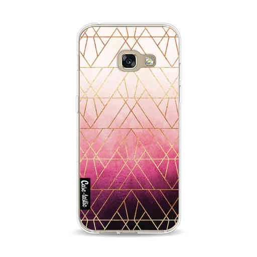 Casetastic Softcover Samsung Galaxy A3 (2017)  - Pink Ombre Triangles