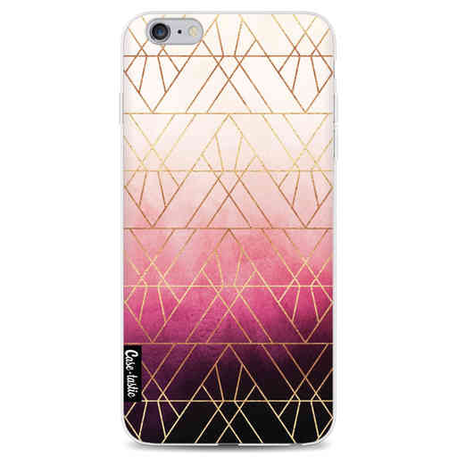 Casetastic Softcover Apple iPhone 6 Plus / 6s Plus - Pink Ombre Triangles