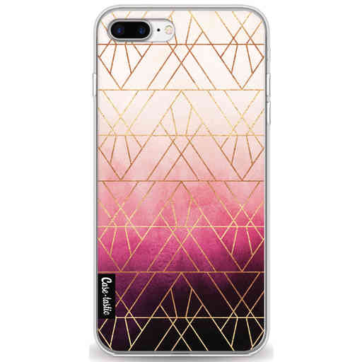 Casetastic Softcover Apple iPhone 7 Plus / 8 Plus - Pink Ombre Triangles