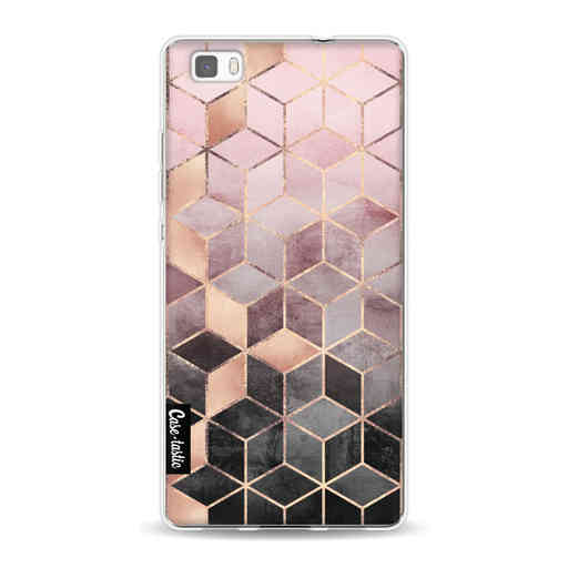 Casetastic Softcover Huawei P8 Lite (2015) - Soft Pink Gradient Cubes