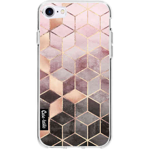 Casetastic Softcover Apple iPhone 7 / 8 / SE (2020) - Soft Pink Gradient Cubes
