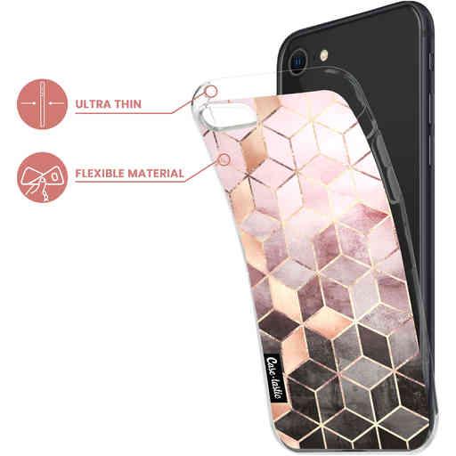 Casetastic Softcover Apple iPhone 7 / 8 / SE (2020) - Soft Pink Gradient Cubes