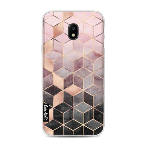 Casetastic Softcover Samsung Galaxy J3 (2017) - Soft Pink Gradient Cubes