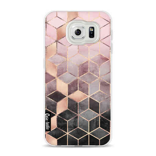 Casetastic Softcover Samsung Galaxy S6 - Soft Pink Gradient Cubes