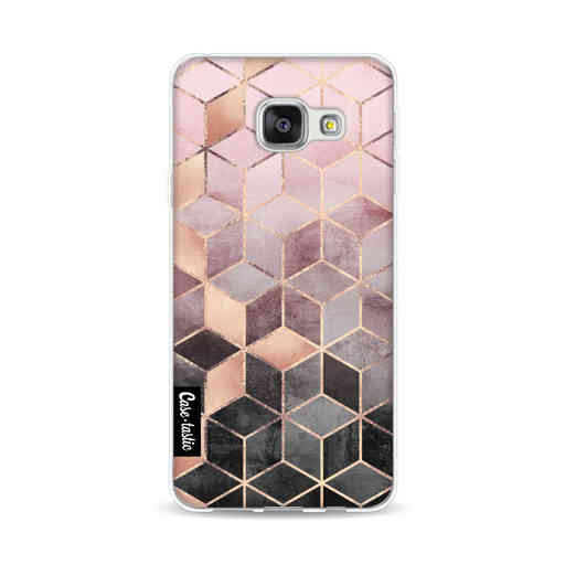 Casetastic Softcover Samsung Galaxy A3 (2016) - Soft Pink Gradient Cubes