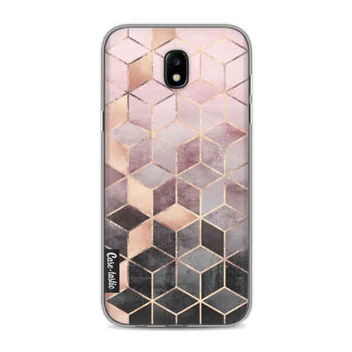 Casetastic Softcover Samsung Galaxy J5 (2017) - Soft Pink Gradient Cubes