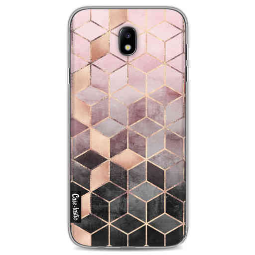 Casetastic Softcover Samsung Galaxy J7 (2017) - Soft Pink Gradient Cubes