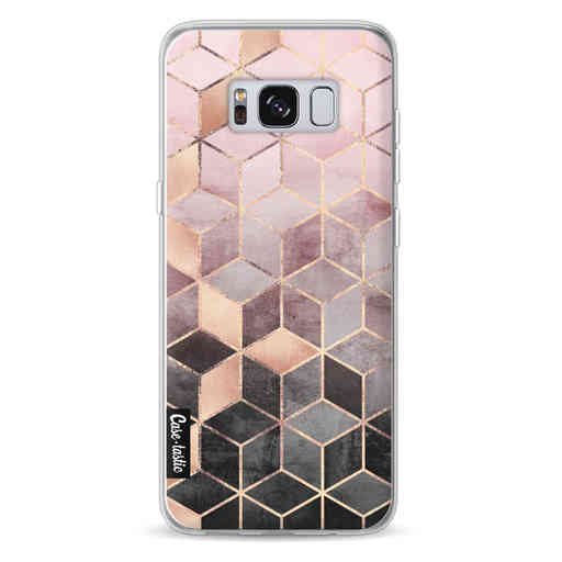 Casetastic Softcover Samsung Galaxy S8 - Soft Pink Gradient Cubes
