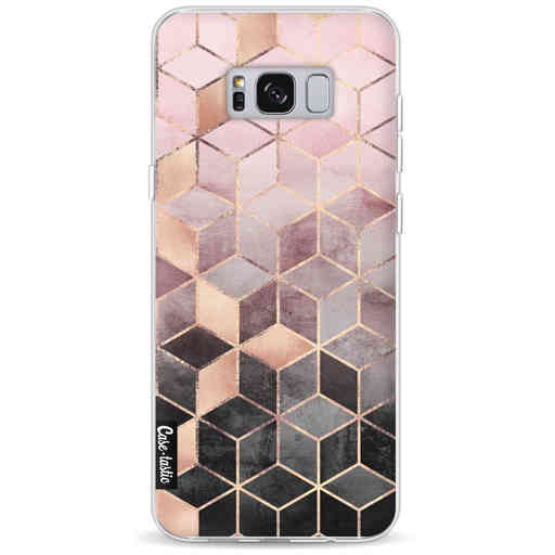 Casetastic Softcover Samsung Galaxy S8 Plus - Soft Pink Gradient Cubes